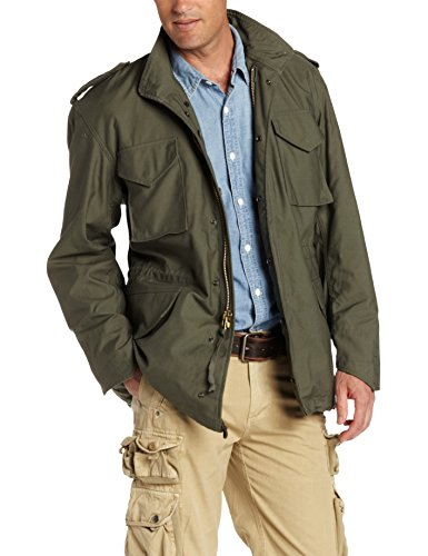 Alpha Industries Men's M-65 Field Coat,Olive Green,Large