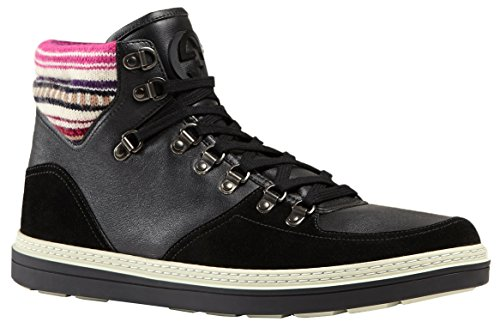 Gucci Men's Black Contrast Combo GG High Top Sneakers Shoes
