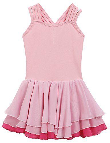 Arshiner Girls Multi layer Chiffon Skirted Camisole Leotard Ballet Dress