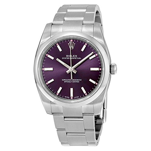 Rolex Oyster Prepetual Automatic Purple Grape Dial Stainless Steel