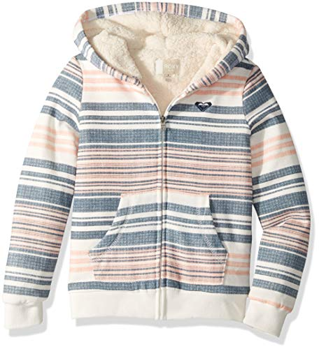 Roxy Girls' Big Sherpa Lined Zip Up Hooded Fleece Top