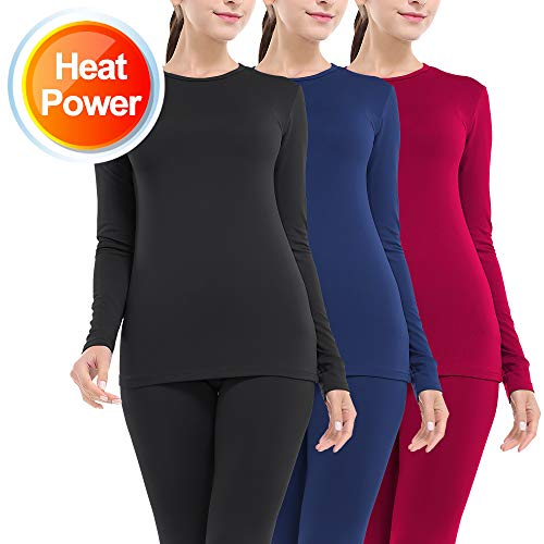 Thermal Underwear for Women Long Johns Set Fleece