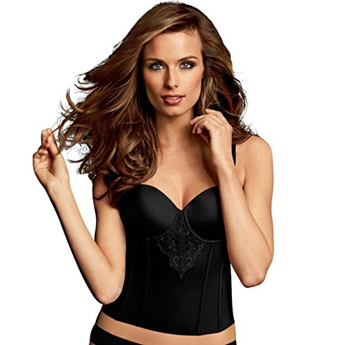 Maidenform Women's Flexees Lace Bustier, Black