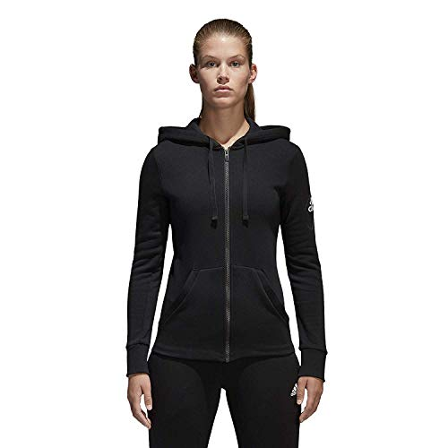 adidas Women Hoodie Running Essentials Linear Full Zip Black