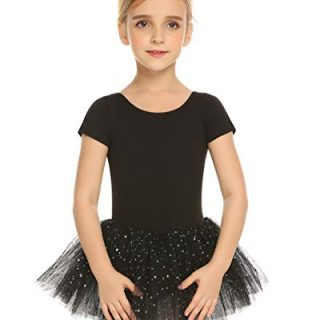 Arshiner Kids Girl's Short Sleeved Leotard Ballet Dance