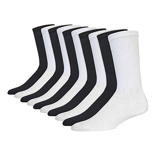 Gildan Men's Tube Socks, Black, White