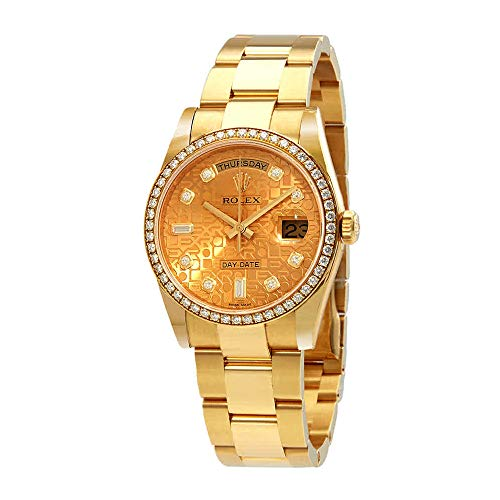 Rolex Day-Date 36 Champagne Jubilee Dial Automatic Diamond Ladies