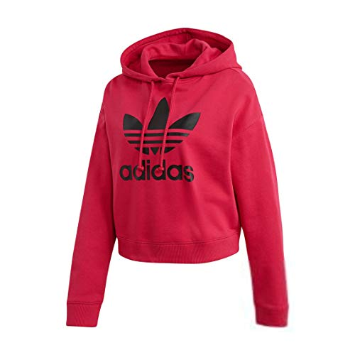 adidas Women Originals LEOFLAGE Crop Hoodie Pride Pink