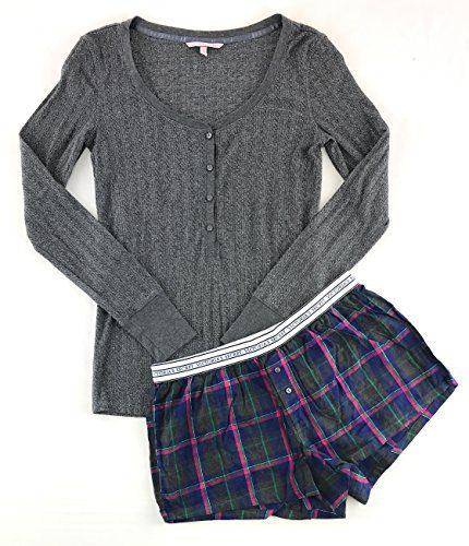 Victoria's Secret Pajama Set Boxer Short and Henley Small