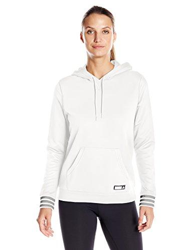 adidas Womens Adigirl Pullover Hoody, White, Large
