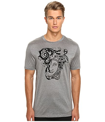 Versace Collection Flocked Medusa Head Graphic Short-Sleeve T-Shirt
