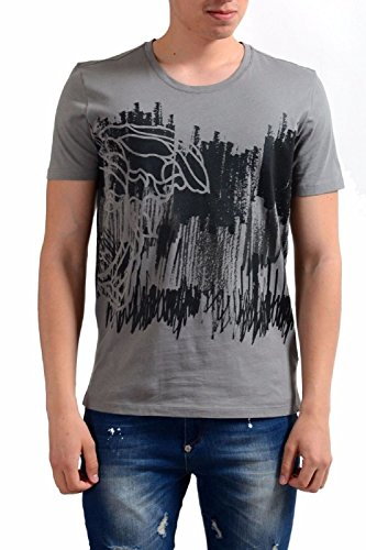 Versace Collection Gray Half Medusa Scribble T-shirt (XL)