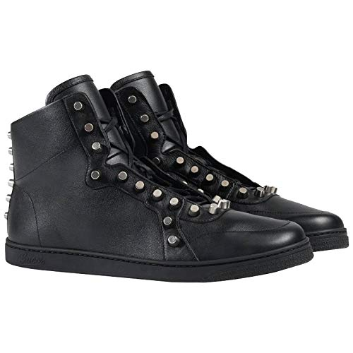 Gucci Men's Studded Nappa Leather High-top Sneakers