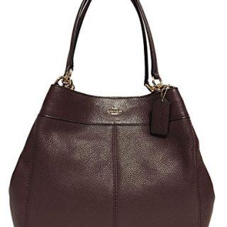 Coach Lexy Pebble Leather Shoulder Bag (Oxblood)