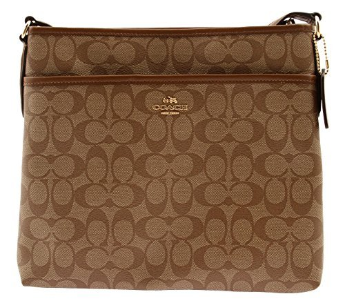 COACH Signature Coated Canvas File Bag Crossbody