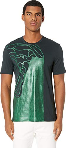 Versace Collection Men's Medusa T-Shirt Green Medium