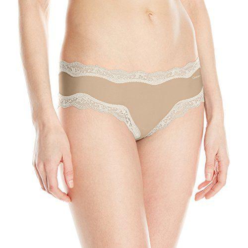 Calvin Klein Women's Micro Hipster Panty, Bare, Medium