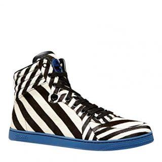 Gucci Multi-Color Zebra Print Calf Hair High top Sneaker
