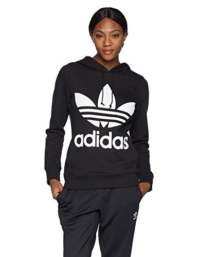 adidas Originals Women's Trefoil Hoodie, Black, Medium