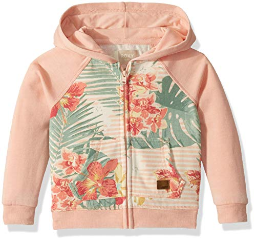 Roxy Girls' Little Banana Pancakes Print Zip Up Hooded Fleece Top