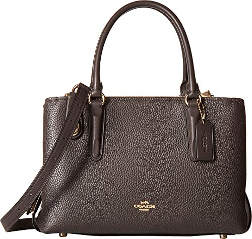 COACH Women's Pebbled Brooklyn 28 Carryall Li/Stone Chestnut One Size