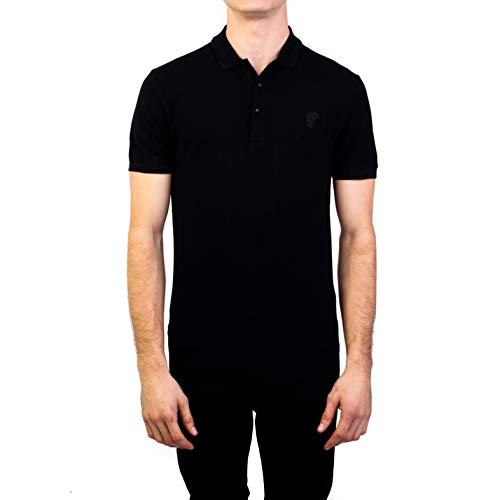 Versace Collection Men's Cotton Pique Medusa Polo Shirt