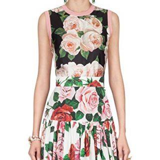 Dolce e Gabbana Women's Black Silk Top
