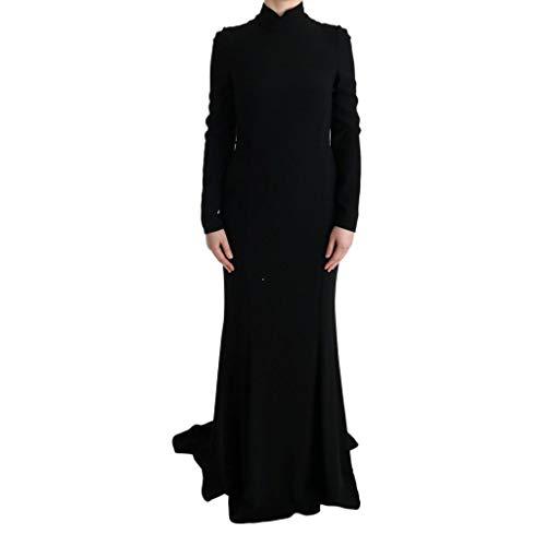 Dolce & Gabbana - Black Stretch Long Gown Sheath Dress