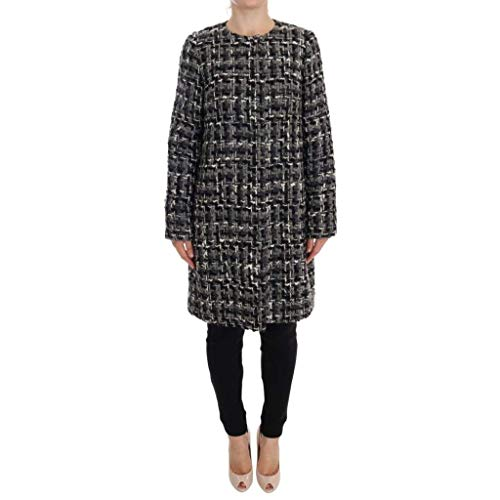 Dolce & Gabbana Gray Wool Knitted Trench Coat
