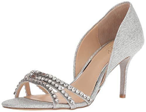 Jewel Badgley Mischka Women's Jean Pump, Silver