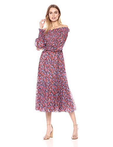 Rebecca Taylor Women's Off-Shoulder Cosmic Floral Dress