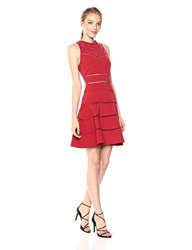 Keepsake The Label Women's Heart Beat Ss Dress, red XS
