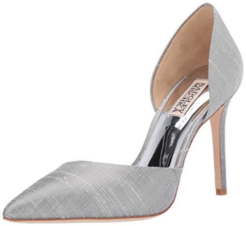 Badgley Mischka Women's LOLA Pump Silver Silk