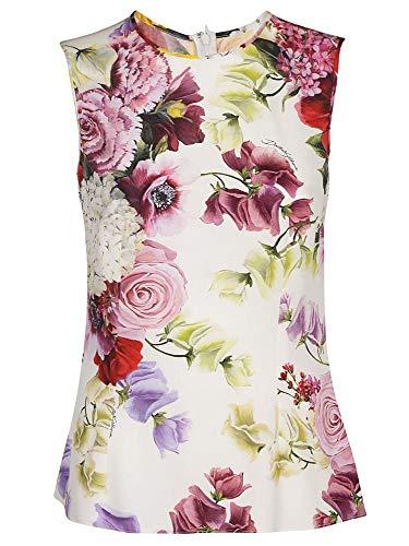 Dolce e Gabbana Women's White Silk Top