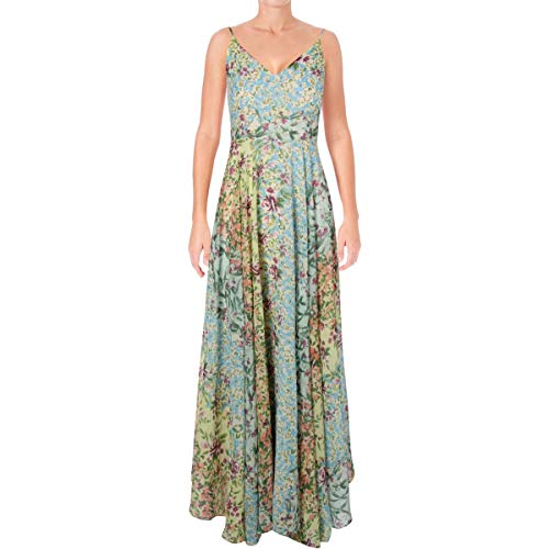 Yumi Kim Womens Floral Print Empire Maxi Dress