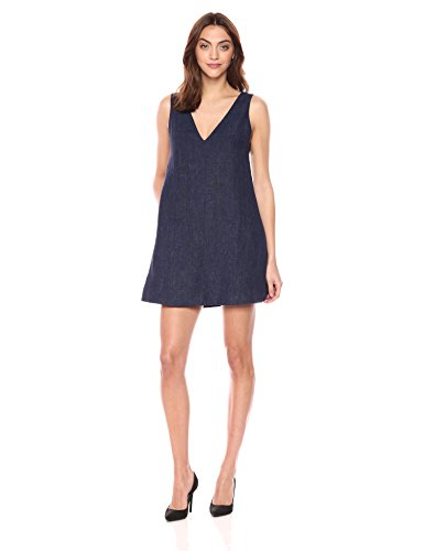 Theory Women's Sleeveless V Neck Shift Dress