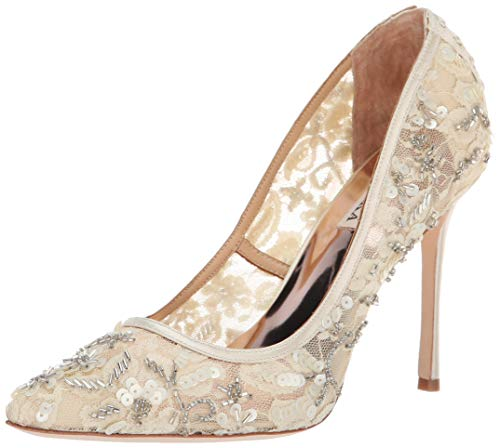 Badgley Mischka Women's Veronica Pump, Ivory Lace