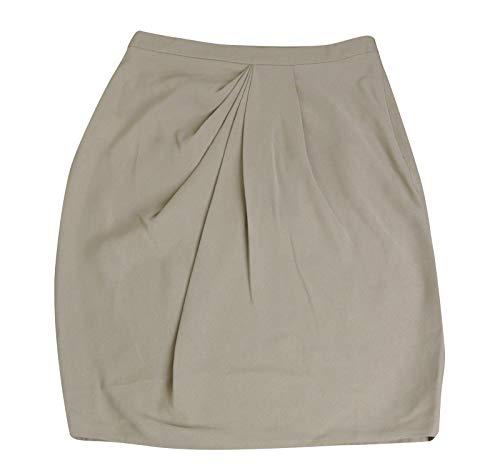 Gucci Drape Front Beige Silk Skirt