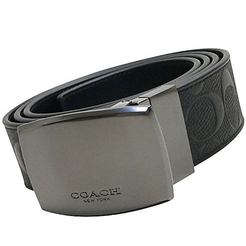 Coach Plaque Cut to Size Reversible Signature Crossgrain Leather Belt