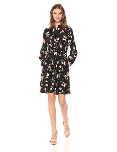 Rebecca Taylor Women's Long Sleeve Ikat Tie Dress