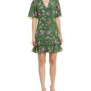 Shoshanna Women's Virginia Short-Sleeve Fit and Flare Dress