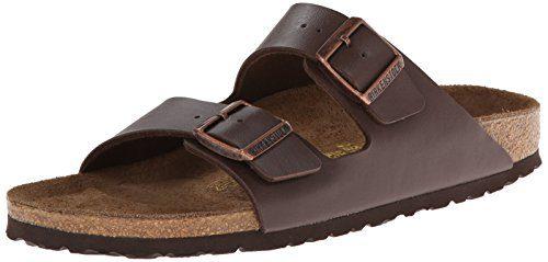 Birkenstock Women's Arizona Birko-Flo Dark Brown Birko-flor Sandals - 40 R EU