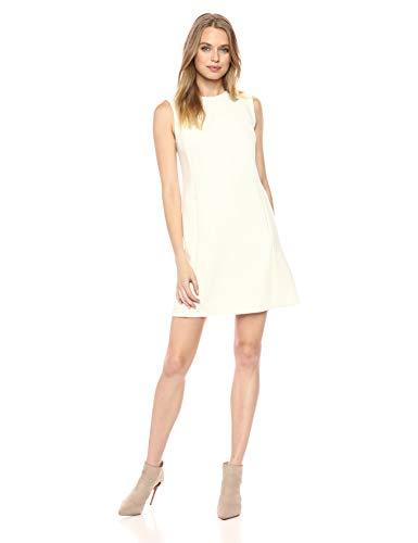 Theory Women's Sleeveless Vent Front Shift Dress, Ivory, 6