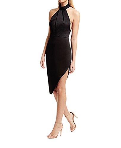 StyleStalker Lana Halter Dress Large in Noir