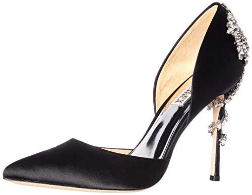 Badgley Mischka Women's Vogue Pump, Black Satin