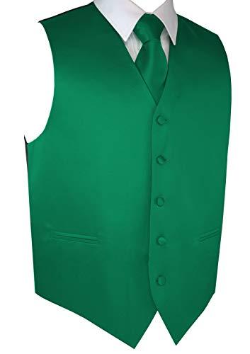 Brand Q Men's Formal Tuxedo Vest, Tie & Pocket