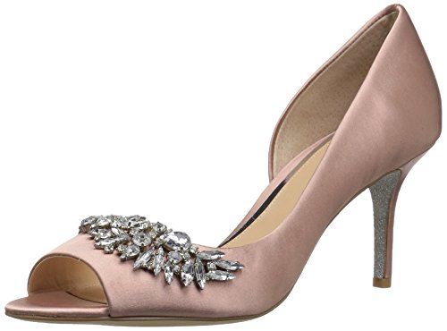 Badgley Mischka Jewel Women's Melvina Pump, Blush Satin