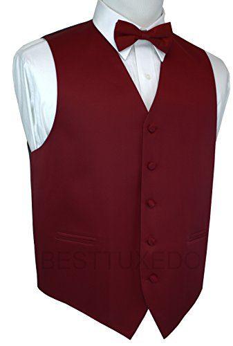 Italian Design, Men's Tuxedo Vest, Bow-Tie & Hankie Set
