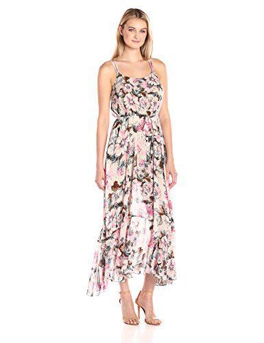 Plenty by Tracy Reese Women's Flounce Hem Maxi Dress