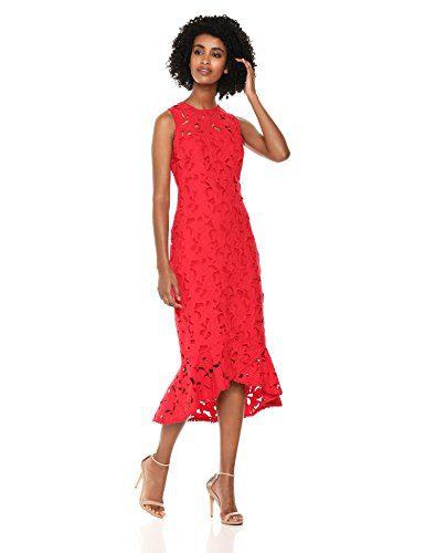 Shoshanna Women's Drayton Sleeveless Floral Cut Out Shift Dress